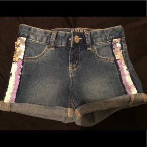 Denim Justice girls shorts with sequins size 7